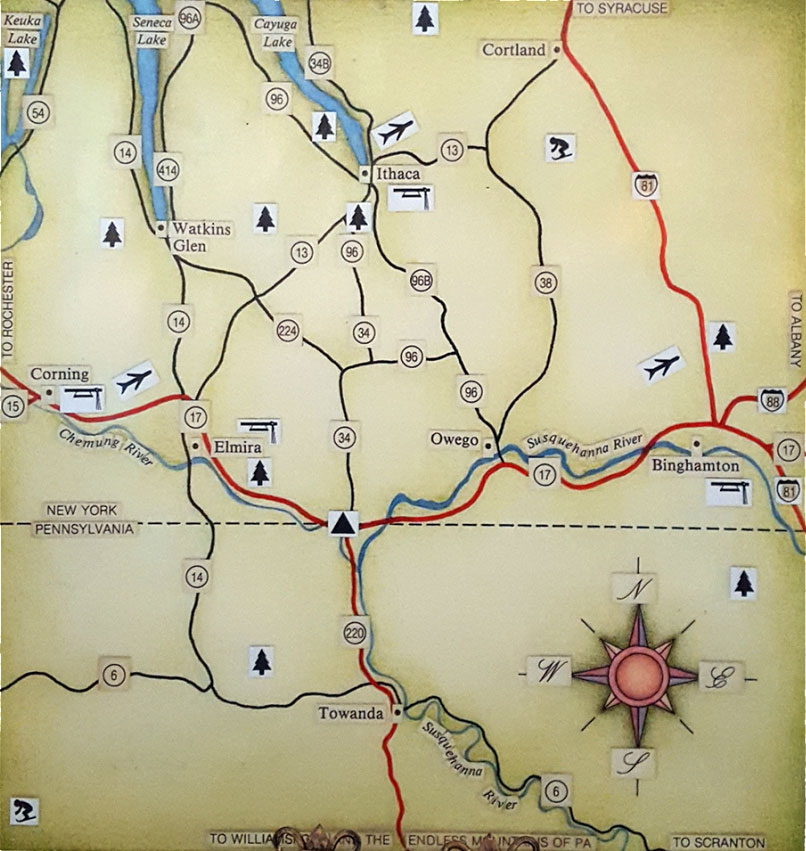 Twin Tiers Map